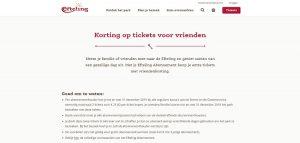 Korting op tickets voor vrienden bij de Efteling