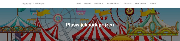Toegangsprijzen Plaswijckpark